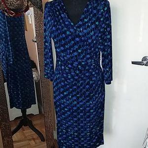 Ralph Lauren Blue patterned dress